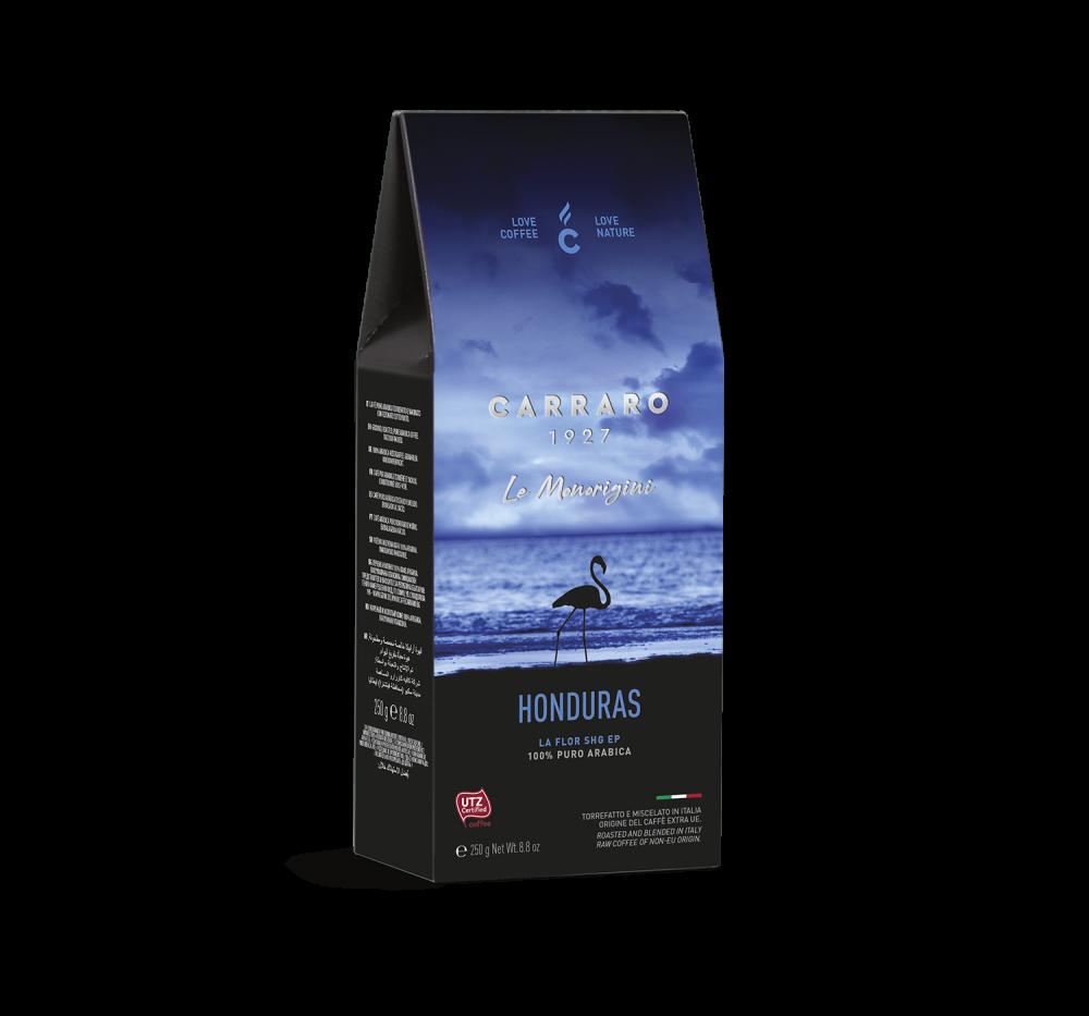 Honduras – caffè macinato in  astuccio  da 250 g - Caffè Carraro