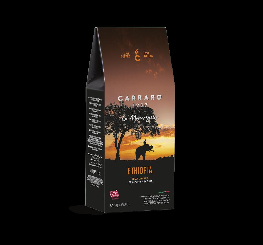 Ethiopia – caffè macinato in  astuccio  da 250 g - Caffè Carraro