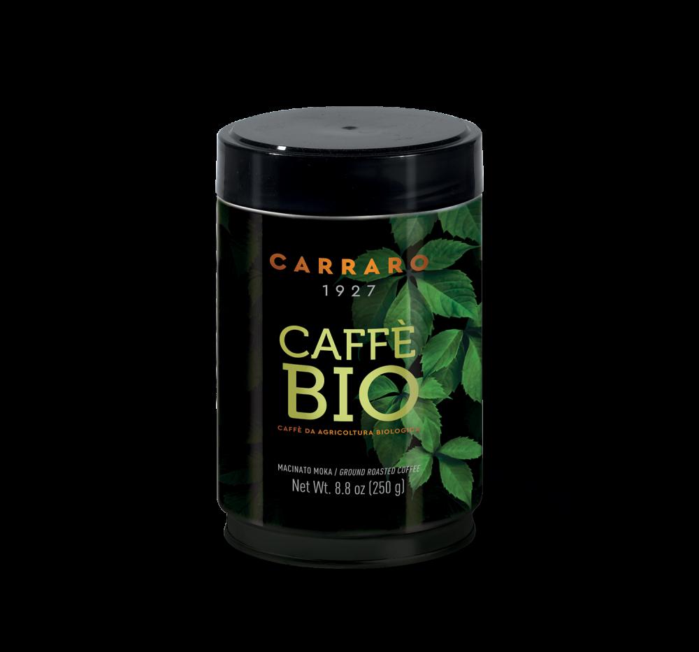 Bio – caffè macinato 100% arabica 250 g in latta - Caffè Carraro