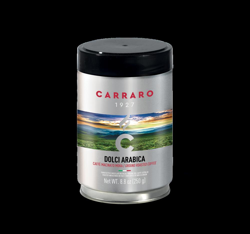 Dolci Arabica – caffè macinato 250 g in latta - Caffè Carraro