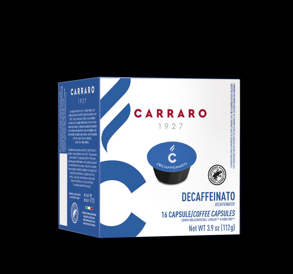 Decaffeinato – 16 capsules - Caffè Carraro