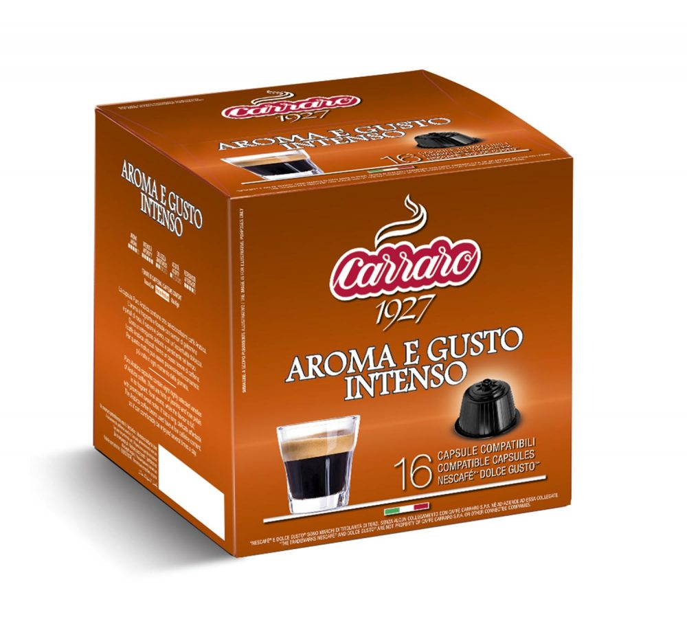 Aroma e Gusto Intenso – 16 capsules - Caffè Carraro
