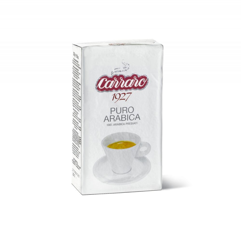 Puro Arabica – ground coffee 250 g - Caffè Carraro