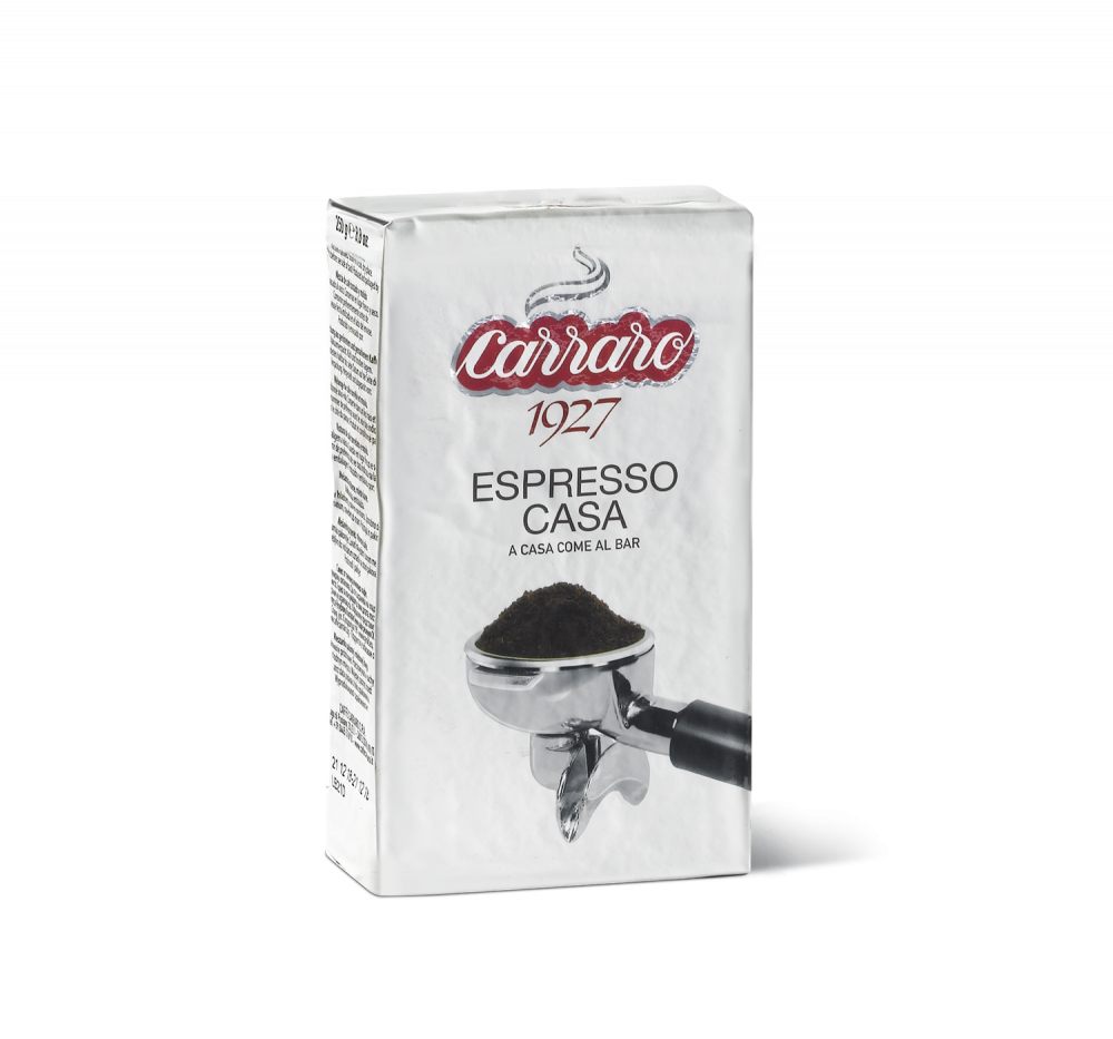 Espresso Casa – ground coffee 250 g - Caffè Carraro
