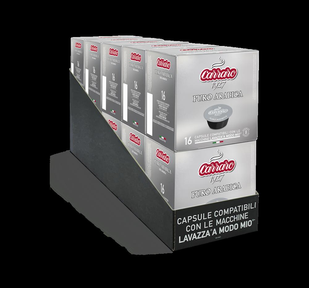 Puro Arabica – 10 boxes of 16 capsules, 160 capsules total - Caffè Carraro
