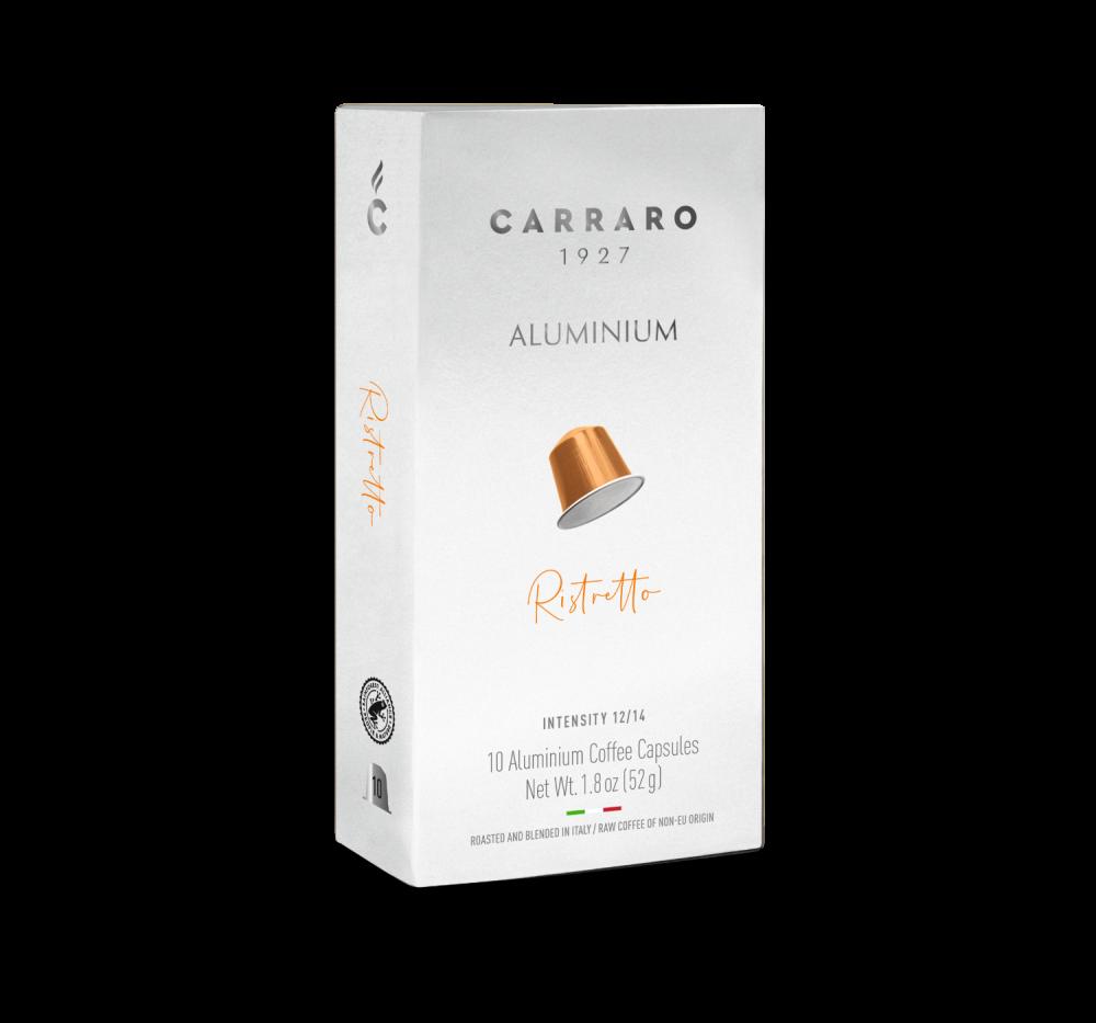 Ristretto – 10 aluminium capsules - Caffè Carraro