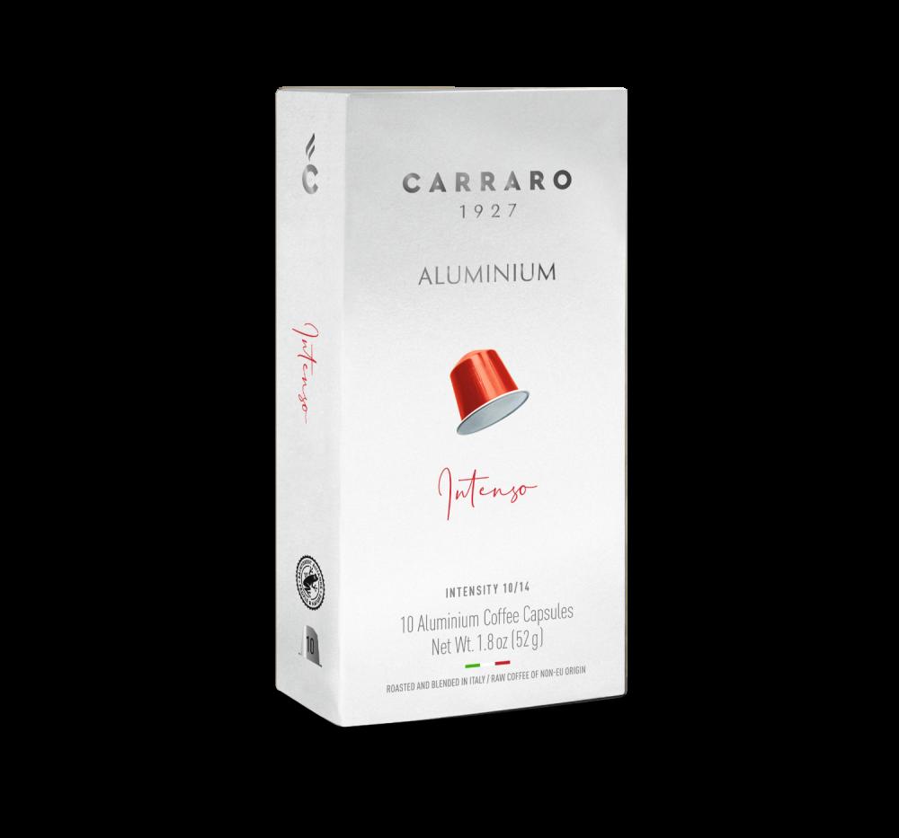 Intenso – 10 capsule in alluminio - Caffè Carraro