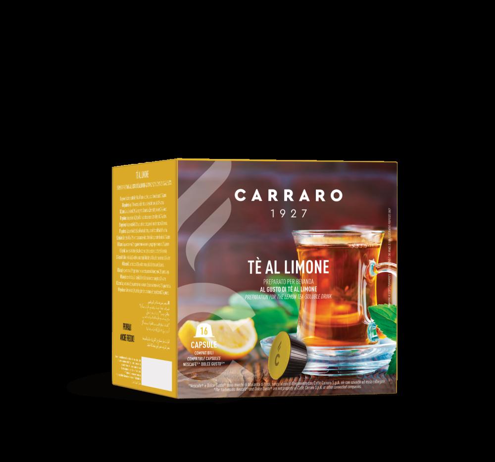 Tè al limone – 16 capsule - Caffè Carraro