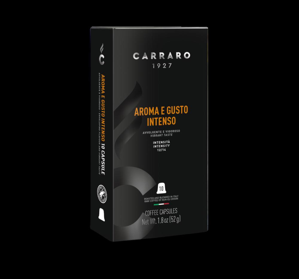 Aroma e Gusto Intenso – 10 capsules - Caffè Carraro
